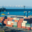 Trade port  with containers — Stock Photo