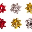 Set of bows made of shiny ribbon — Stock Photo #19382049