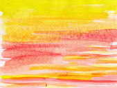 Abstract red and yellow background from watercolor — Stock Photo
