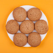 Stock Photo: Cookies on a plate