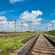 Stock Photo: View on summer railroad