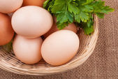 Egg with greens — Stock Photo