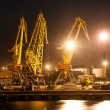 Royalty-Free Stock Photo: Night view of the industrial port