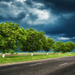 Dark road before thunderstorm — Stock Photo #22039439