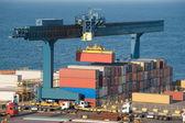 Hijs container in de haven — Foto de Stock