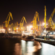 Stock Photo: Port and ship at night