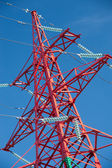 Yüksek gerilim enerji hatları — Stok fotoğraf