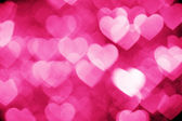 Pink bokeh of hearts background — Stock Photo