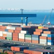 Containers in port at day — Stock Photo