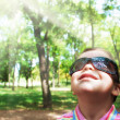 Boy in sunglasses — Stock Photo