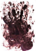 Palm and finger prints — Stock Photo