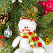 Christmas decoration with snowman — Stock Photo #32028145
