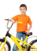 Chłopiec na rowerze — Zdjęcie stockowe