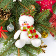Christmas decoration with snowman — Stock Photo #32547835