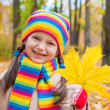 Girl in autumn park — Stock Photo #34177123
