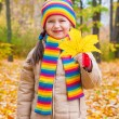 Girl in autumn park — Stock Photo #34177625