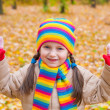 Girl in autumn park — Stock Photo #34182961