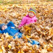 Childs in autumn park — Stock Photo