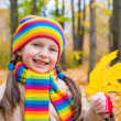 Girl in autumn park — Stock Photo #34421053