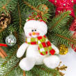 Christmas decoration with snowman — Stock Photo #34869359