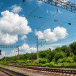 Railroad infrastructure — Stockfoto