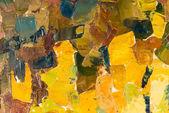 Peinture à l'huile sur toile abstrait coloré. — Photo