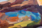Oil painting on canvas. Abstract brushstroke colorful background. — Stock Photo