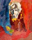 Still life painted oil on canvas. — Stock Photo
