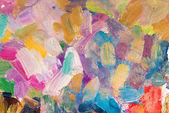 Bright multicolored oil brush strokes as background — Stock Photo