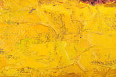 Abstract yellow oil painting on canvas. — Stock Photo