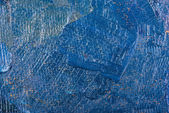 Abstract blue oil painting on canvas. — Stock Photo