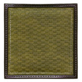Khaki wicker frame isolated — Stock Photo