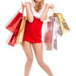 Woman christmas shopping — Stock Photo #11986514