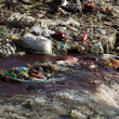 Pollution in river — Foto Stock