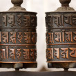 Tibetan prayer wheels — Stock Photo