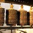 Tibetan prayer wheels — Foto Stock
