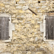 Old wall and windows — Stock Photo
