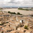 Bordeaux and Garonne river - Stock Photo