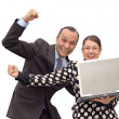 Happy business couple — Stock Photo #13372458