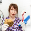 Bored housekeeper — Stock Photo
