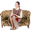 Kitsch womon retro couch — Stock Photo #13372858