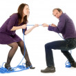 Stock Photo: Fighting couple