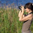 Stock Photo: Watching wildlife