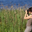 Stock Photo: Wildlife watching