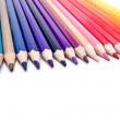Colors pencils aligned — Stock Photo