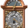 Bordeaux big bell's clock isolated - Stock Photo