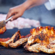 Grilled chicken legs — Stockfoto