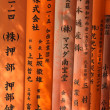 Religious japanese writing - Stock Photo