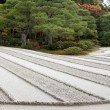 Raked sand zen garden — Stock Photo