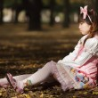 Sad japanese lolita — Stock Photo